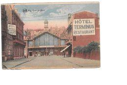 Hoei, Huy, Gare Du Nord, Ingekleurd, Met Postzegels, 1934 - Huy