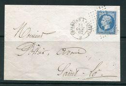 Lettre Du 31 Août 1862 De CHERBOURG à PARIS- Ambulant Ch P1°- Timbre Y&T N°14A - 1852 Luigi-Napoleone