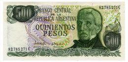 ARGENTINA 500 PESOS ND(1977-82) Pick 303c Unc - Argentine