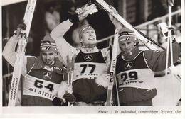 1612   LAHTI    FOTO    18 X 12  CM  WETTER AUF SKIFAHREN - Winter Sports