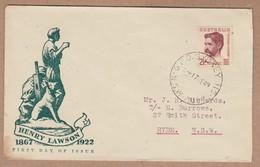 Australia FDC 1949 Henry Lawson - Postally Used - FDC