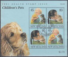 NUEVA ZELANDA 1993 Nº HB-87 USAD0 - Hojas Bloque