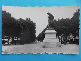 34 : BEZIERS : STATUE PAUL RIQUET Et Les ALLEES , C.P.A. , Carte En Bon état, - Beziers