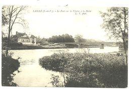 CPA Laillé Le Pont Sur La Vilaine à La Halte L.V Photo - Frankreich
