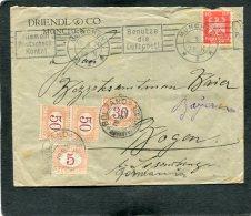 Deutsches Reich Brief 1924 + Porto Belgien - Germany