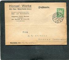 Deutsches Reich  Postkarte Perfin 1926 HW - Germany