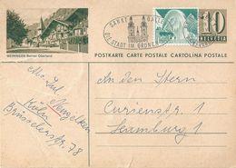 """PK 182  """"Meiringen Berner Oberland""""           1956 - Stamped Stationery"""