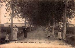 CPA - HERAULT - Cazouls-d'Hérault - Promenade De L'Allée - Autres Communes