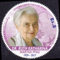 2017 Pakistan Dr. Ruth Katharina Martha Pfau Leprosy, Medical, Health (1v) MNH (PK-106) - Disease
