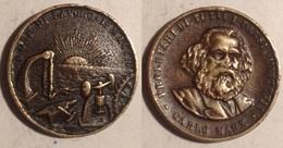 TOKEN JETON GETTONE MEDAGLIA PROLETARI DI TUTTI I PAESI UNITEVI CARLO MARX - Monetary/Of Necessity