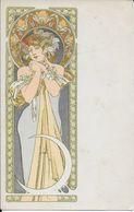 T.b.cpa MUCHA- Rare- Femme Avec Lune -non Vue Sur Aucun Site- - Illustrateurs & Photographes
