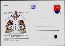 563-SLOVAKIA Postal Stationery-with Imprint 19th World Winter Universiade-EYOD 1999 Tatry Candidate Winter Olympics 2006 - Sonstige