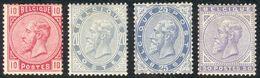 Mooi Reeks N° 38/41* Met Plakker (zegel N° 40 Klein Rest Plakker Maar Heeft Plooi In Zegel - 1883 Léopold II
