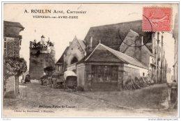"""VERNEUIL Sur AVRE """"""""A ROULIN Ainé,Carrossier """""""" Ancienne Eglise St Laurent Cliché Le MARCHAND,à Médréac - France"""