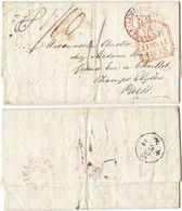 AR78) GREAT BRITAIN - Chesterfield ( Derbyshire ) To Paris - 1835 - ...-1840 Precursori