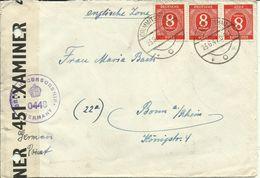 1947 Zensurbrief Von Crimmitschau Nach Bonn - Bizone
