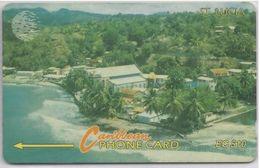 SAINT LUCIA - COASTLINE LOGO - 16CSLA - Saint Lucia