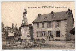 MOUSSAC  Monument Aux Morts De La Grande Guerre 1914-1918 Et La Poste - Frankrijk