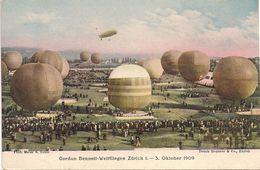 Zürich - Gordon-Bennett - 1909 - Montgolfières