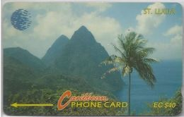 SAINT LUCIA - PITONS  LOGO - 9CSLC - Saint Lucia