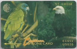 SAINT LUCIA - PARROT AND EAGLE - 11CSLA - Saint Lucia