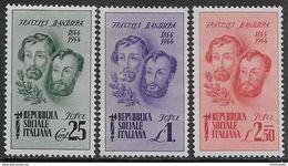 Italia Italy 1944 RSI Fratelli Bandiera Sa N.512-514 Completa Nuova MH * - 4. 1944-45 Repubblica Sociale