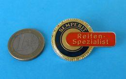 SEMPERIT - TIRE SPECIALIST .. Vintage Larger Breast Pin Badge * Tyre Tires Tyres Gum Pneu Reifen Pneumatico Gomma - Tracteurs