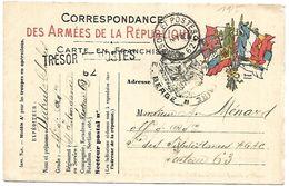 CM 74  Correspondance Militaire Du 10-09-15 Cachet Trésor Et Postes Double Cercle N°(SP)62 Commandement D'Etapes - Marcofilie (Brieven)