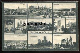 902 - GERMANY Vulkaneifel 1920s  Multiview Wassenach. Niedermendig. Ruine Olbruck - Germany