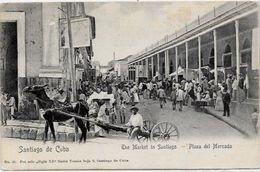CPA Cuba Circulé Métier Attelage Marché - Postcards