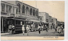 CPA Haïti Port Au Prince Tramway Non Circulé - Other
