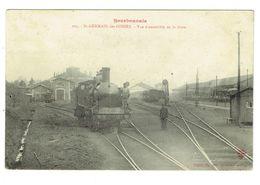 ALLIER 03 SAINT GERMAIN DES FOSSES Vue D'ensemble De La Gare Beau Plan De Locomotive - France