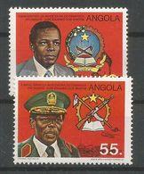 Angola Mi.A700/B700 Complete Set MNH / ** 1984 Dos Santos - Angola