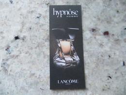 Carte Parfum Hypnôse Pour Homme De Lancôme. - Parfumkaarten