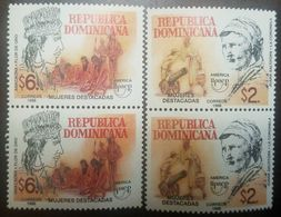L) 1998 DOMINICAN REPUBLIC, UPAEP, FEATURED WOMEN, ANACAONA, GOLDEN FLOWER, INDIGENOUS, PEOPLE, 6, JUANA SALTITOPA, THE - Dominica (1978-...)