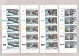 Transkei Blocks Of MNH Stamps From 1980 Tourism Coastal Landscapes Set - Transkei