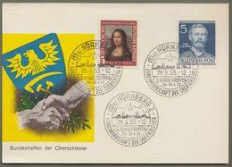 """Bund: Sonderkarte Mit Mi-Nr. 148 Mona Lisa U. Berlin 92 SST Zu:  """" 3. Bundestreffen Der Oberschlesier """" !        X - BRD"""