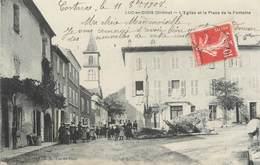"""CPA FRANCE 26 """"Luc En Diois, L'église Et La Place De La Fontaine"""" - Luc-en-Diois"""