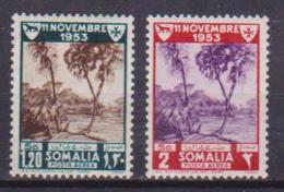 SOMALIA A.F.I.S AMMINISTRAZIONE FIDUCIARIA ITALIANA  1954 POSTA AEREA SASS. A23-A24 MLH VF - Somalia (1960-...)