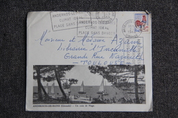 Lettre D'ANDERNOS Vers TOULOUSE - Cat Ceres  N°1331 - France