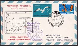 ARGENTINE ANTARCTIC Cover 1967 Pope's Visit : Flight Cover..................8231 - Stamps