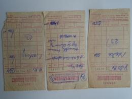 D157171  Receipt  Ujpest  Állami Áruház 3 Pcs 1960's - Invoices & Commercial Documents
