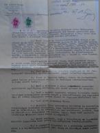 D157172 Hungary MEZÖTÚR -Dr. Ádám Imre Procureur De La Ville - Cabinet D'avocats 1943 - Revenue Stamps - Invoices & Commercial Documents