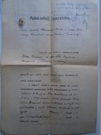 D157173 Hungary MEZÖTÚR -  Sale Contract  De Vente  1944 - Revenue Stamps - Facturas & Documentos Mercantiles