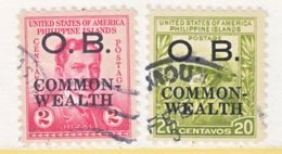 U.S. PHILIPPINES   O 25-6 (o)   1937-8  Issue - Philippines