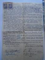 D157174 Hungary MEZÖTÚR -  Sale Contract  De Vente  1948 - Revenue Stamps  - Signed Várkonyi Miklós - Invoices & Commercial Documents