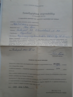 D157176 Hungary  Commande De Voiture -car Ordering   POLSKI FIAT 1300 - MERKUR Budapest  1969  - Car Sales - Invoices & Commercial Documents