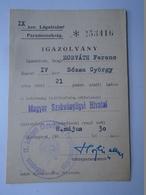 D157177 Hungary   Commandement De La Force Aérienne -  Air Force Command - ID Card 1958 - Invoices & Commercial Documents