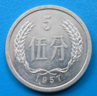 Chine China 5 Fen 1957 Y.3 UNC - China
