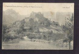 CPA 26 - PIEGROS-LA-CLASTRE - Village De Piègros ( Côté Nord ) - TB PLAN D'ensemble + Jolie Oblitération Verso - France